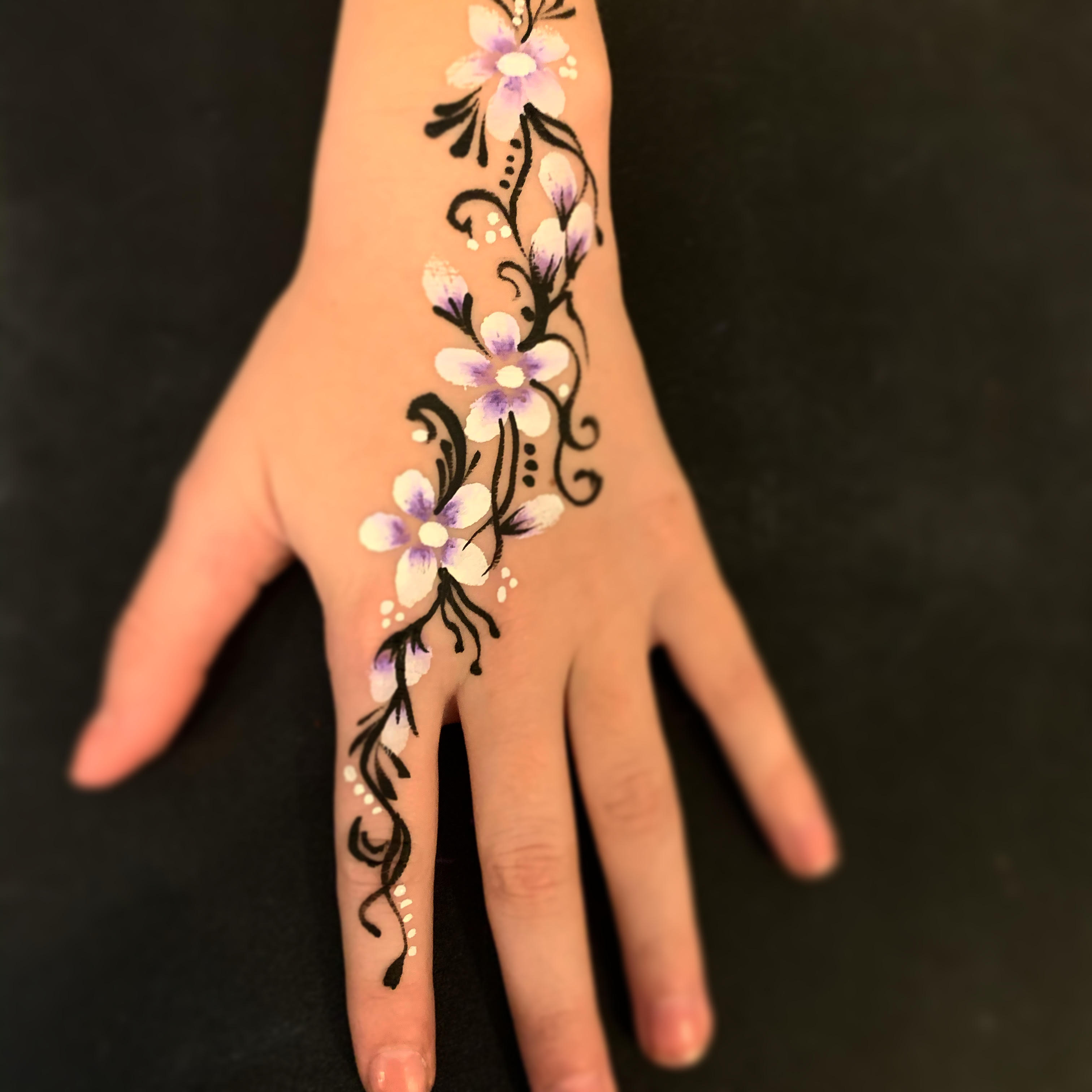Flowers painted on hand