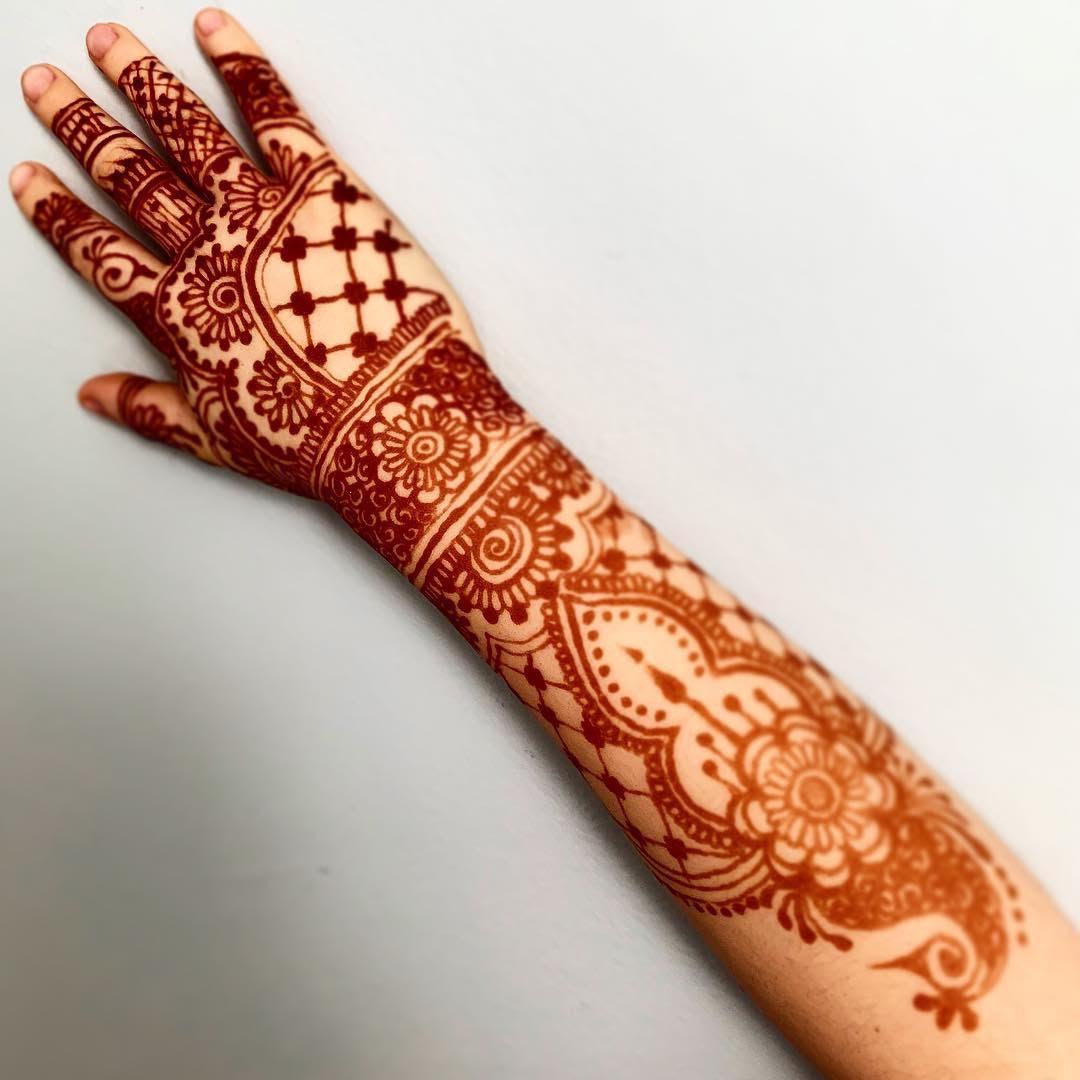 Full arm henna
